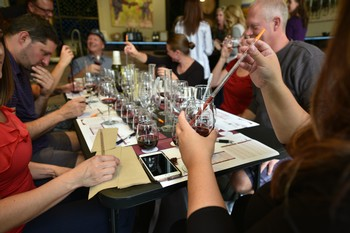Wine Blending Group Table Photo