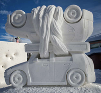 Snow sculpture of automobile from 2016 contest
